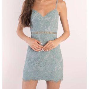 tobi light blue bodycon lace dress